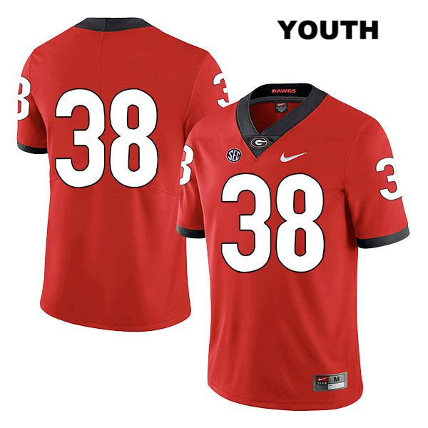 Legend Youth Stitched Georgia Bulldogs Red Nike Aaron Olalude Authentic no. 38 College Football Jersey - No Name - Aaron Olalude Jersey