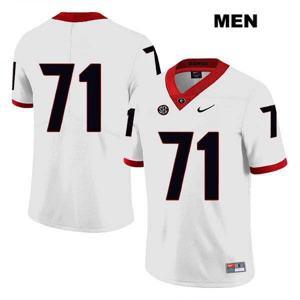 Stitched Mens Georgia Bulldogs Nike White Andrew Thomas Legend Authentic no. 71 College Football Jersey - No Name - Andrew Thomas Jersey