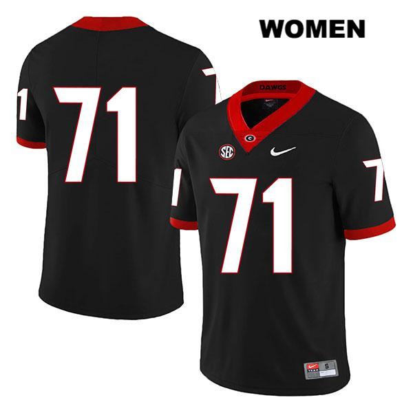 Womens Georgia Bulldogs Black Stitched Nike Andrew Thomas Authentic Legend no. 71 College Football Jersey - No Name - Andrew Thomas Jersey