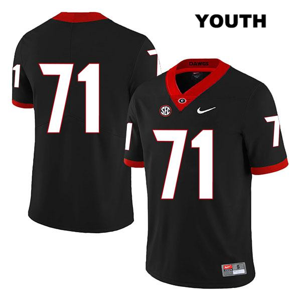 Youth Nike Georgia Bulldogs Legend Black Andrew Thomas Stitched Authentic no. 71 College Football Jersey - No Name - Andrew Thomas Jersey