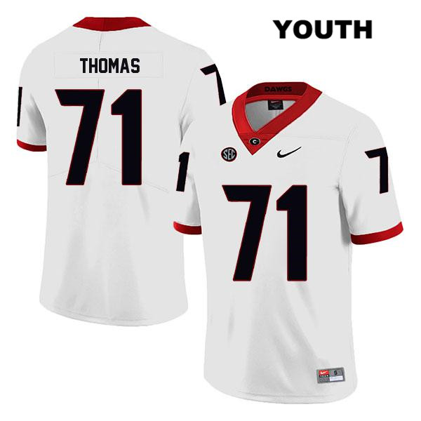 Youth Georgia Bulldogs Stitched White Andrew Thomas Nike Authentic Legend no. 71 College Football Jersey