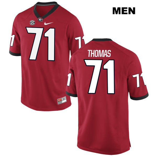 Mens Georgia Bulldogs Nike Stitched Red Andrew Thomas Authentic no. 71 College Football Jersey - Andrew Thomas Jersey