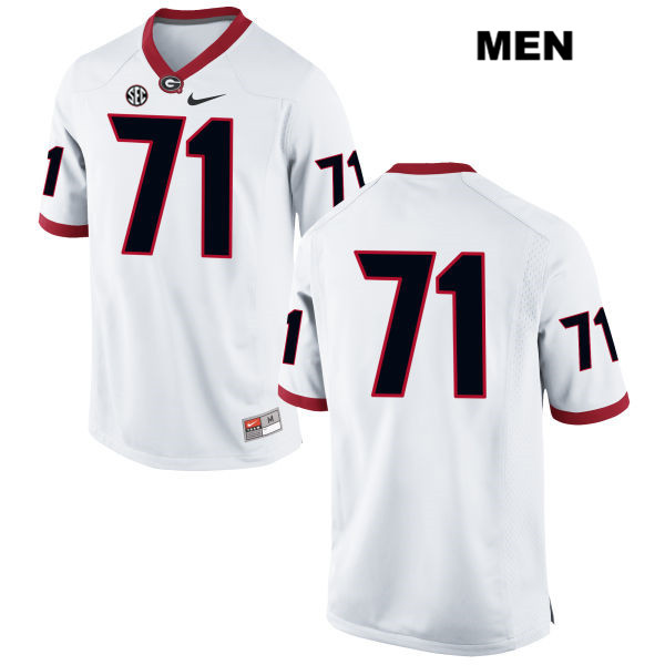 Nike Mens Georgia Bulldogs White Andrew Thomas Authentic Stitched no. 71 College Football Jersey - No Name - Andrew Thomas Jersey
