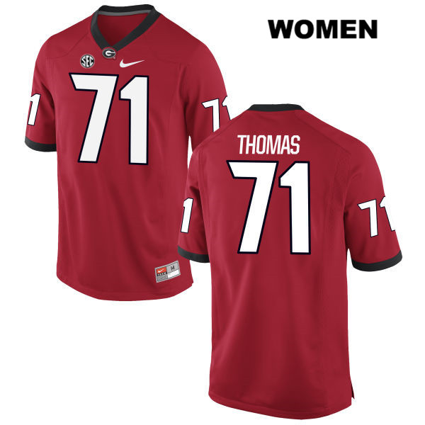 Womens Georgia Bulldogs Red Stitched Andrew Thomas Nike Authentic no. 71 College Football Jersey - Andrew Thomas Jersey
