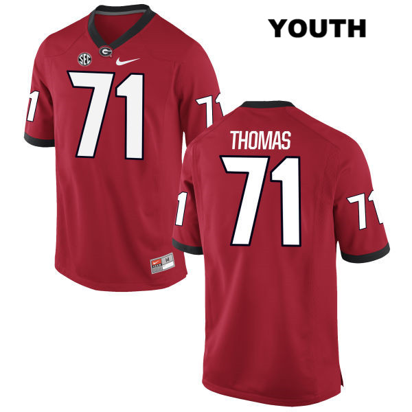 Nike Youth Georgia Bulldogs Red Stitched Andrew Thomas Authentic no. 71 College Football Jersey - Andrew Thomas Jersey
