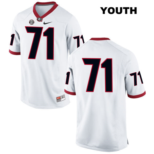 Youth Georgia Bulldogs White Nike Andrew Thomas Authentic Stitched no. 71 College Football Jersey - No Name - Andrew Thomas Jersey