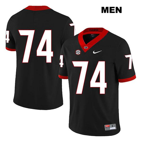 Mens Stitched Georgia Bulldogs Black Ben Cleveland Legend Authentic Nike no. 74 College Football Jersey - No Name - Ben Cleveland Jersey