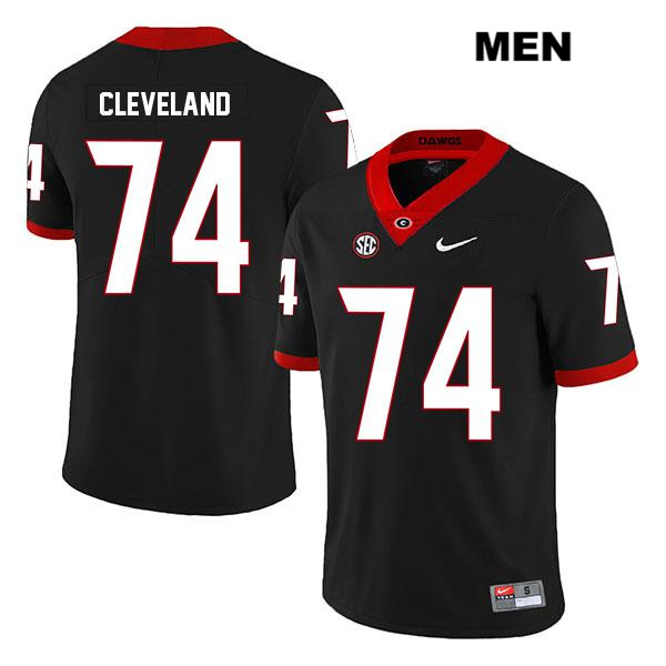 Stitched Mens Legend Georgia Bulldogs Black Ben Cleveland Authentic Nike no. 74 College Football Jersey - Ben Cleveland Jersey