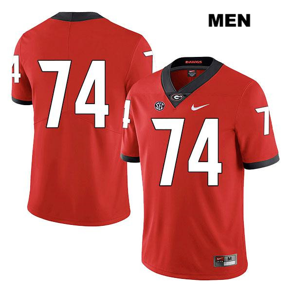 Mens Stitched Georgia Bulldogs Red Legend Ben Cleveland Authentic Nike no. 74 College Football Jersey - No Name - Ben Cleveland Jersey