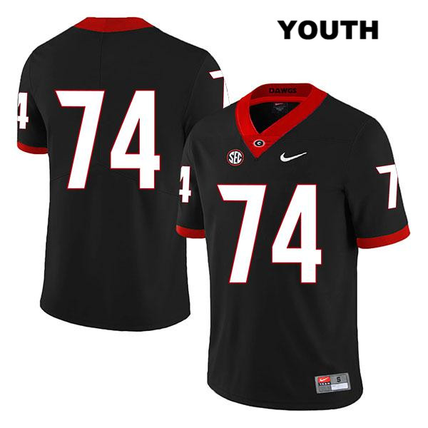 Youth Georgia Bulldogs Nike Black Stitched Ben Cleveland Authentic Legend no. 74 College Football Jersey - No Name - Ben Cleveland Jersey