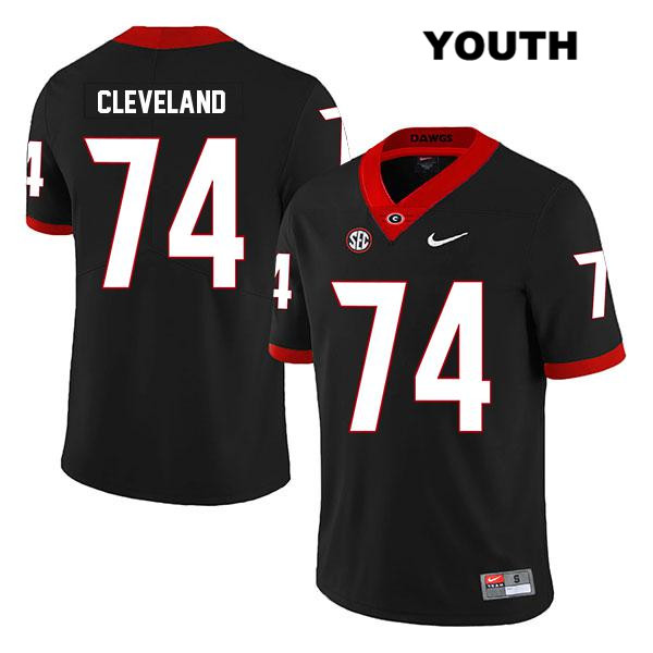 Youth Georgia Bulldogs Black Stitched Ben Cleveland Legend Authentic Nike no. 74 College Football Jersey - Ben Cleveland Jersey