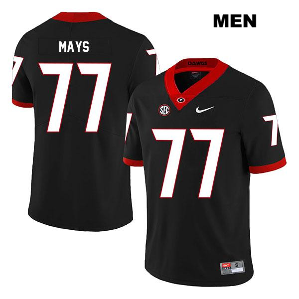 Mens Nike Georgia Bulldogs Black Cade Mays Legend Authentic Stitched no. 77 College Football Jersey - Cade Mays Jersey