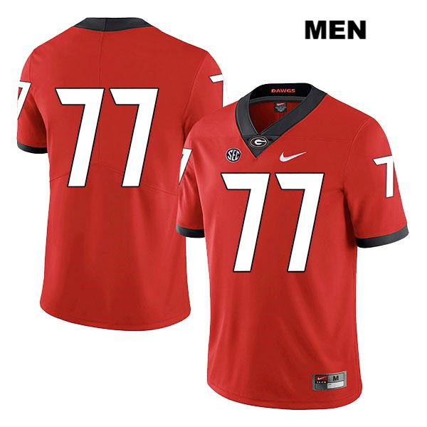 Mens Georgia Bulldogs Red Legend Stitched Cade Mays Authentic Nike no. 77 College Football Jersey - No Name - Cade Mays Jersey