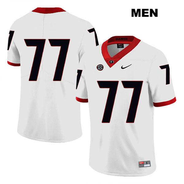 Mens Georgia Bulldogs Legend White Stitched Cade Mays Authentic Nike no. 77 College Football Jersey - No Name - Cade Mays Jersey