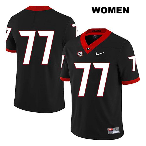 Womens Georgia Bulldogs Black Nike Cade Mays Stitched Legend Authentic no. 77 College Football Jersey - No Name - Cade Mays Jersey
