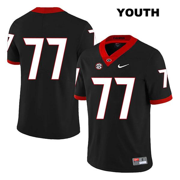 Youth Georgia Bulldogs Black Legend Cade Mays Nike Authentic Stitched no. 77 College Football Jersey - No Name - Cade Mays Jersey