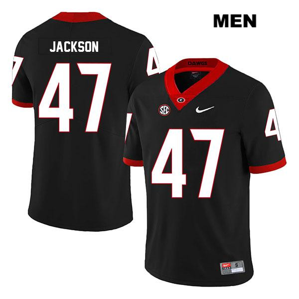 Mens Georgia Bulldogs Stitched Black Dan Jackson Legend Authentic Nike no. 47 College Football Jersey - Dan Jackson Jersey