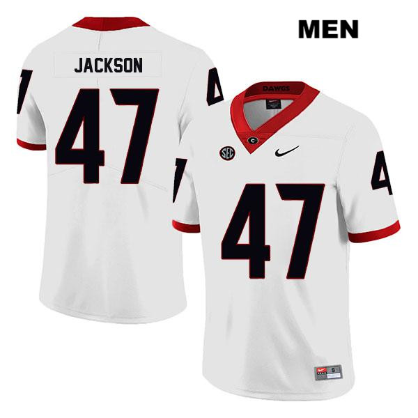 Mens Stitched Georgia Bulldogs White Dan Jackson Legend Nike Authentic no. 47 College Football Jersey - Dan Jackson Jersey