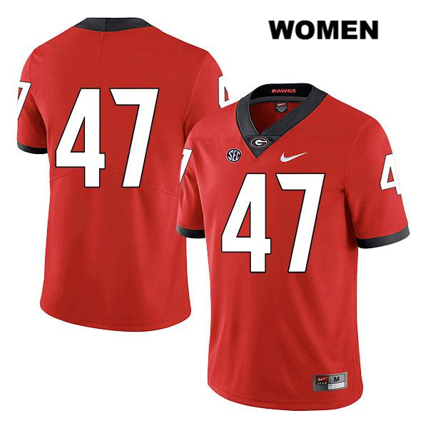 Womens Nike Georgia Bulldogs Red Dan Jackson Authentic Legend Stitched no. 47 College Football Jersey - No Name - Dan Jackson Jersey