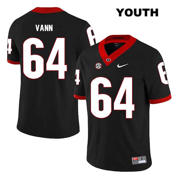 Youth Georgia Bulldogs Legend Black David Vann Nike Stitched Authentic no. 64 College Football Jersey