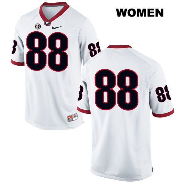 Nike Womens Stitched Georgia Bulldogs White Jackson Harris Authentic no. 88 College Football Jersey - No Name - Jackson Harris Jersey