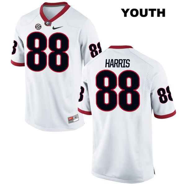 Youth Georgia Bulldogs Nike White Jackson Harris Authentic Stitched no. 88 College Football Jersey - Jackson Harris Jersey