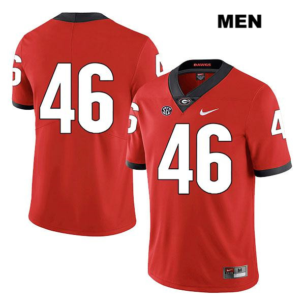 Mens Georgia Bulldogs Red Jake Wilson Nike Legend Authentic Stitched no. 46 College Football Jersey - No Name - Jake Wilson Jersey