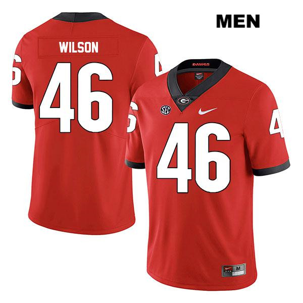 Mens Legend Georgia Bulldogs Nike Red Jake Wilson Authentic Stitched no. 46 College Football Jersey - Jake Wilson Jersey