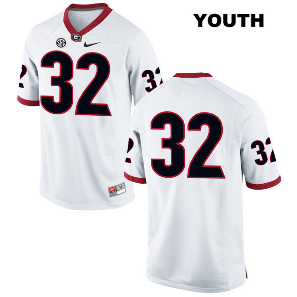 Youth Georgia Bulldogs White Nike Stitched Jaylen Johnson Authentic no. 32 College Football Jersey - No Name - Jaylen Johnson Jersey