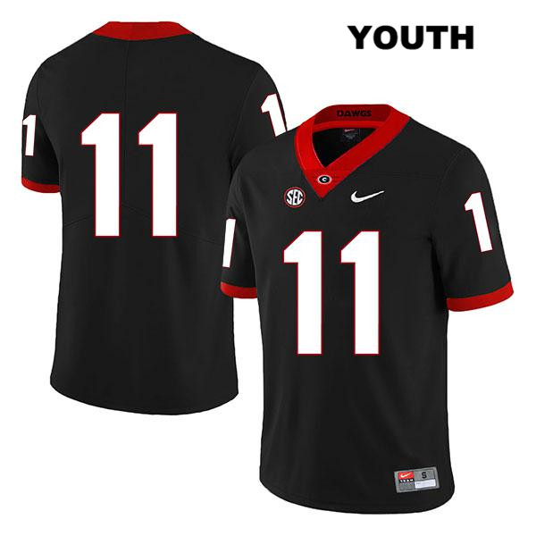 Youth Georgia Bulldogs Black Legend Stitched Jermaine Johnson Nike Authentic no. 11 College Football Jersey - No Name - Jermaine Johnson Jersey