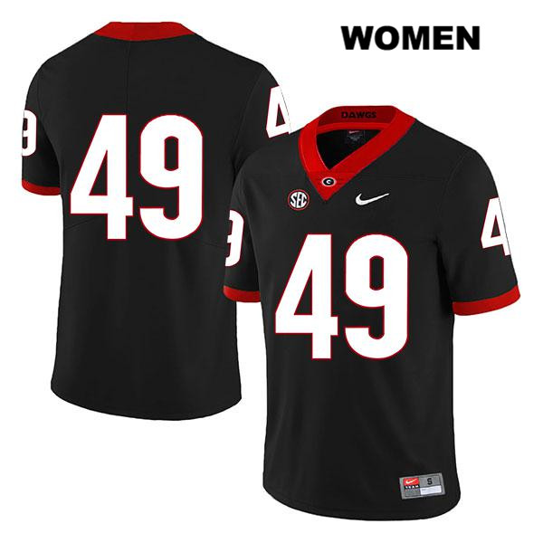 Womens Nike Georgia Bulldogs Legend Black Stitched Koby Pyrz Authentic no. 49 College Football Jersey - No Name - Koby Pyrz Jersey