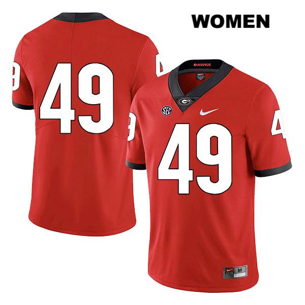 Nike Womens Georgia Bulldogs Legend Red Stitched Koby Pyrz Authentic no. 49 College Football Jersey - No Name - Koby Pyrz Jersey