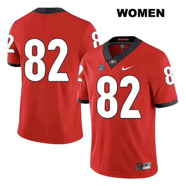 Legend Womens Georgia Bulldogs Stitched Red Nike Kolby Wyatt Authentic no. 82 College Football Jersey - No Name - Kolby Wyatt Jersey