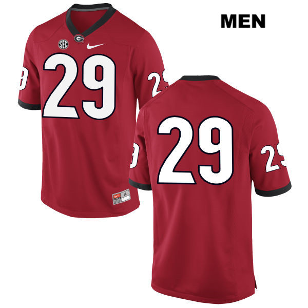 Mens Georgia Bulldogs Red Nike Lucas Stone Stitched Authentic no. 29 College Football Jersey - No Name - Lucas Stone Jersey