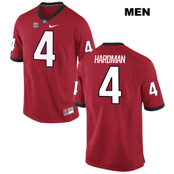 Stitched Mens Georgia Bulldogs Red Nike Mecole Hardman Authentic no. 4 College Football Jersey - Mecole Hardman Jersey