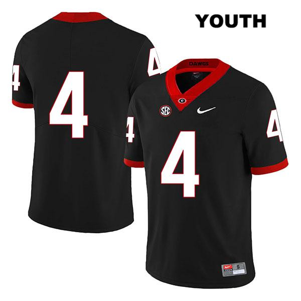 Youth Georgia Bulldogs Legend Black Nike Nolan Smith Authentic Stitched no. 4 College Football Jersey - No Name