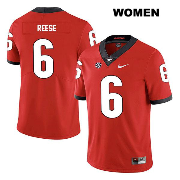 Womens Georgia Bulldogs Red Nike Otis Reese Stitched Legend Authentic no. 6 College Football Jersey