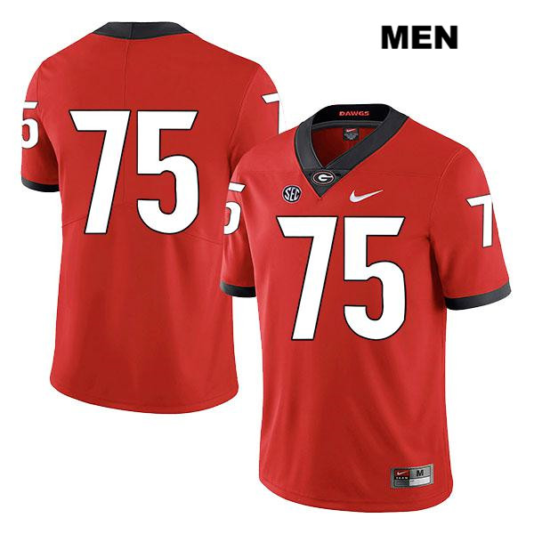 Mens Georgia Bulldogs Red Legend Nike Owen Condon Stitched Authentic no. 75 College Football Jersey - No Name - Owen Condon Jersey