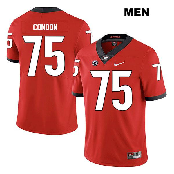 Nike Mens Georgia Bulldogs Stitched Red Owen Condon Legend Authentic no. 75 College Football Jersey - Owen Condon Jersey