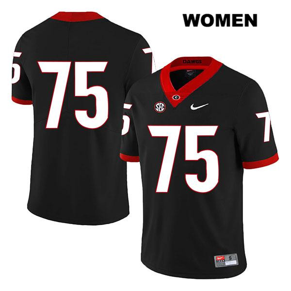 Womens Stitched Legend Georgia Bulldogs Black Owen Condon Authentic Nike no. 75 College Football Jersey - No Name - Owen Condon Jersey