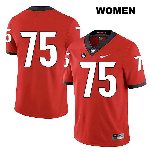 Womens Legend Georgia Bulldogs Red Nike Owen Condon Authentic Stitched no. 75 College Football Jersey - No Name - Owen Condon Jersey