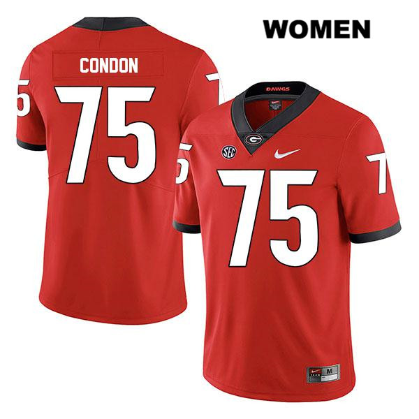 Stitched Womens Legend Georgia Bulldogs Red Nike Owen Condon Authentic no. 75 College Football Jersey - Owen Condon Jersey
