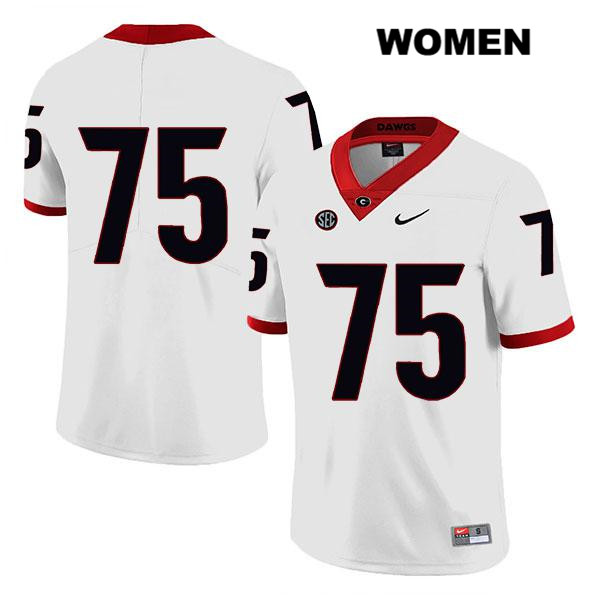 Legend Womens Georgia Bulldogs Stitched White Owen Condon Authentic Nike no. 75 College Football Jersey - No Name - Owen Condon Jersey