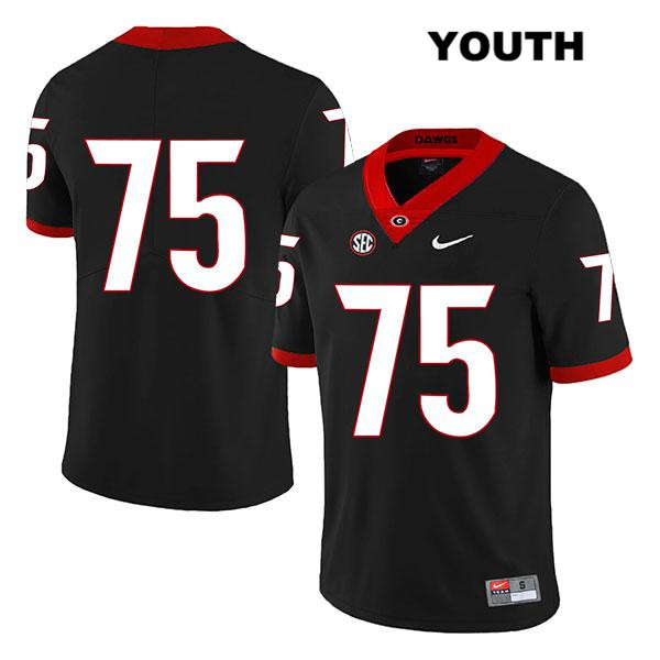 Nike Youth Georgia Bulldogs Black Legend Owen Condon Authentic Stitched no. 75 College Football Jersey - No Name - Owen Condon Jersey
