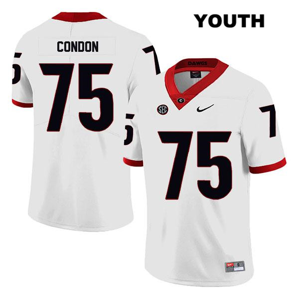 Legend Youth Georgia Bulldogs White Owen Condon Nike Authentic Stitched no. 75 College Football Jersey - Owen Condon Jersey