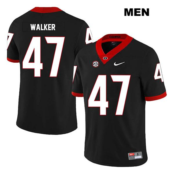 Mens Legend Georgia Bulldogs Black Nike Stitched Payne Walker Authentic no. 47 College Football Jersey - Payne Walker Jersey