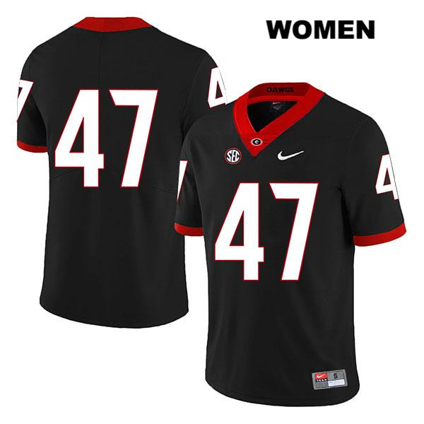 Womens Georgia Bulldogs Nike Black Stitched Payne Walker Authentic Legend no. 47 College Football Jersey - No Name - Payne Walker Jersey