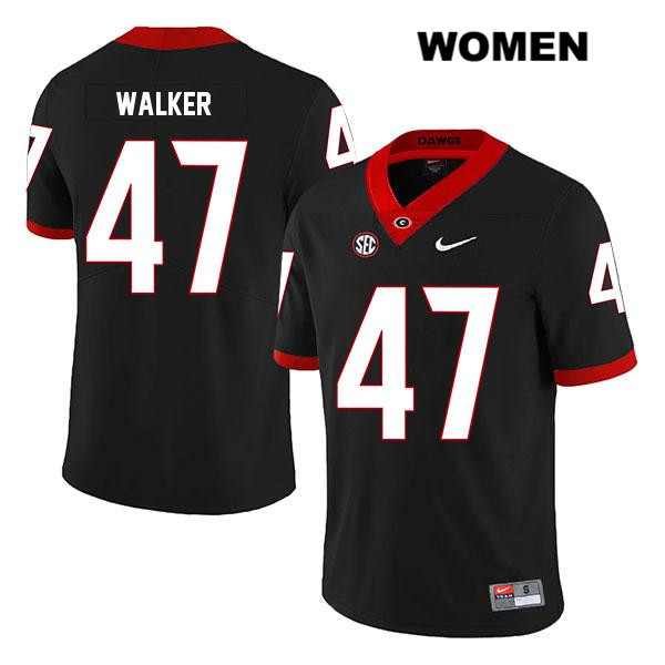 Womens Georgia Bulldogs Black Legend Stitched Payne Walker Nike Authentic no. 47 College Football Jersey - Payne Walker Jersey