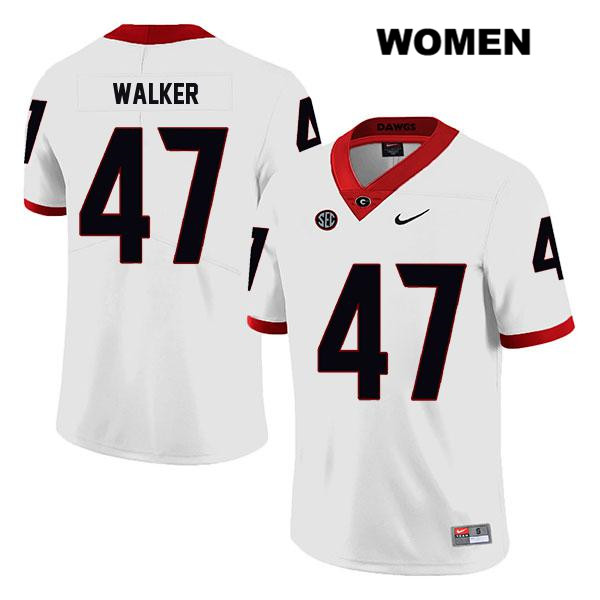 Womens Stitched Nike Georgia Bulldogs White Payne Walker Legend Authentic no. 47 College Football Jersey - Payne Walker Jersey