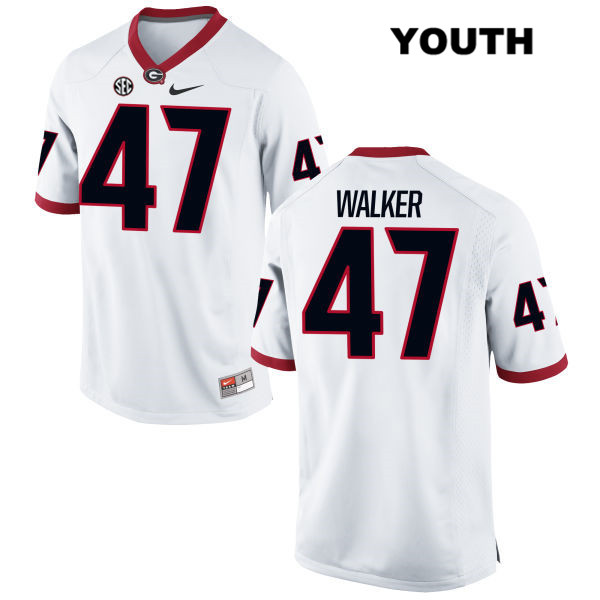Youth Stitched Georgia Bulldogs White Payne Walker Nike Authentic no. 47 College Football Jersey - Payne Walker Jersey
